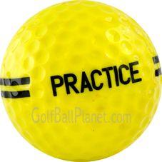 Practice Yellow Golf Balls | Range Yellow Used Golf Balls